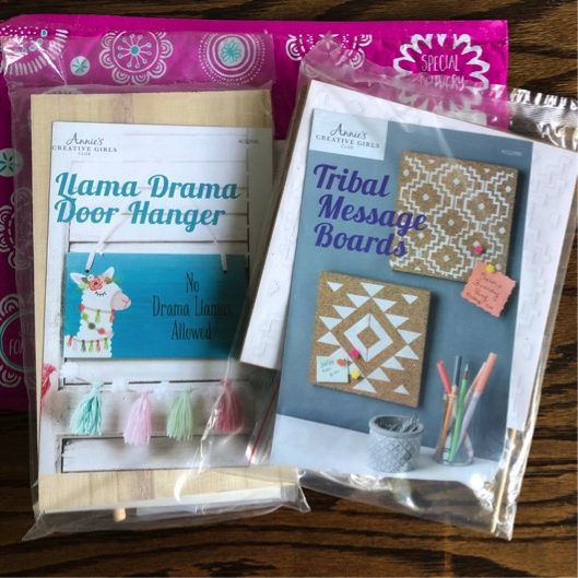 Creative Girls Club Llama Drama and Tribal Message Boards Kits