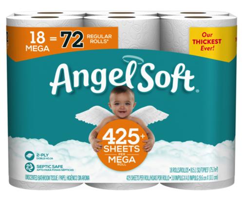 Angel Soft Toilet Paper 18 Mega Rolls