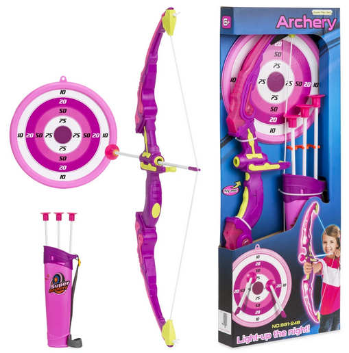 Kids 24in Light-Up Archery Toy Play Set