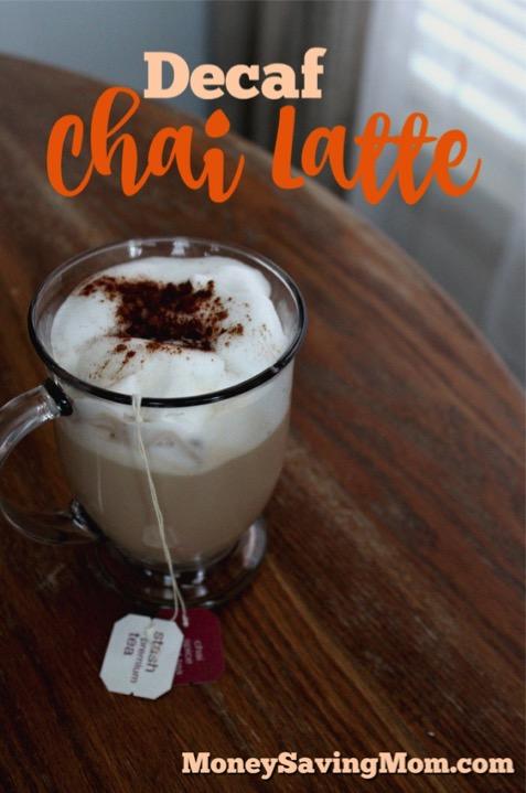 Decaf Chai Tea Latte