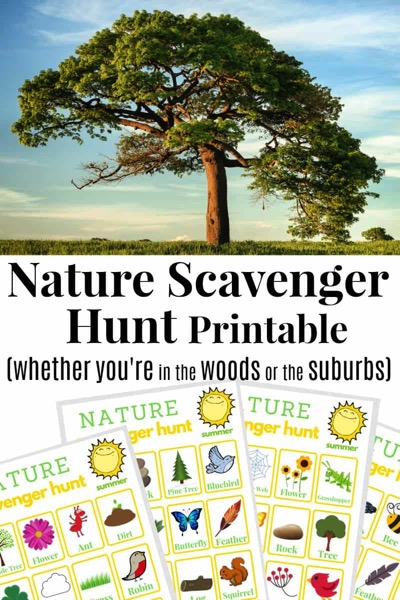 Free Printable Nature Scavenger Hunt