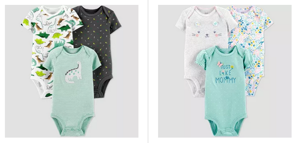 Carter's Baby Bodysuit 3-Packs from $7 at Target