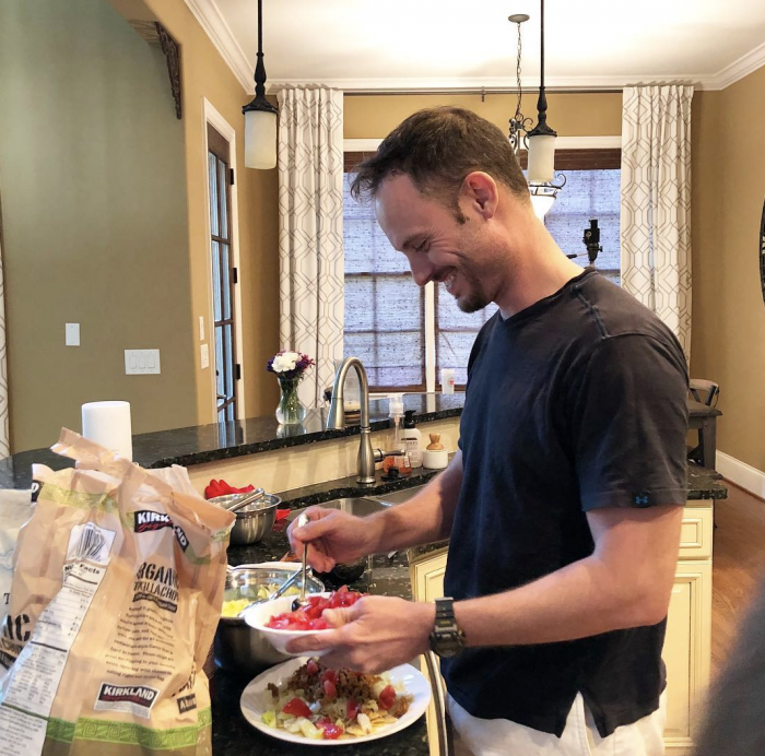 man prepping healthy food for picky eaters
