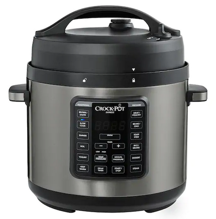 Crock-Pot Express 6-qt. Black Stainless Pressure Cooker