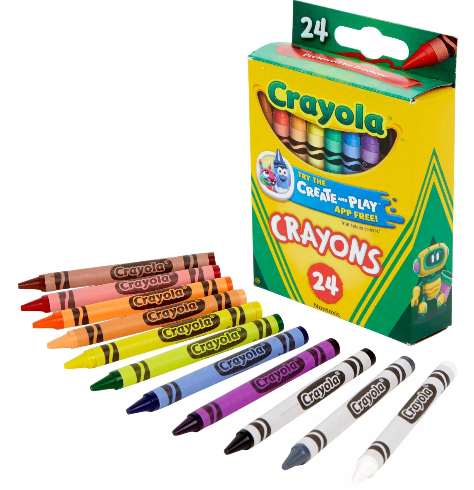 Crayola 24-Count Crayons Only 50¢