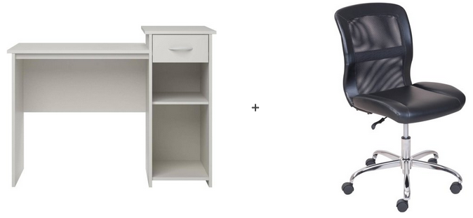 Mainstays Student Desk and Your Choice of Office Chair