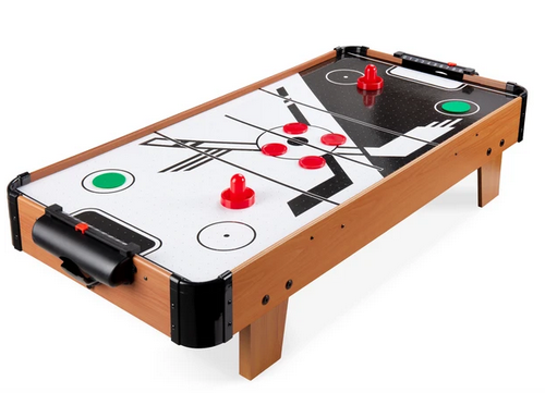 Tabletop Air Hockey Game Table w/ 2 Blower Fans