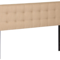 Modern Tufted Fabric Queen Headboard Bedroom Decor