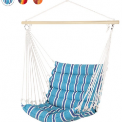 Padded Indoor/Outdoor Cotton Hammock Chair