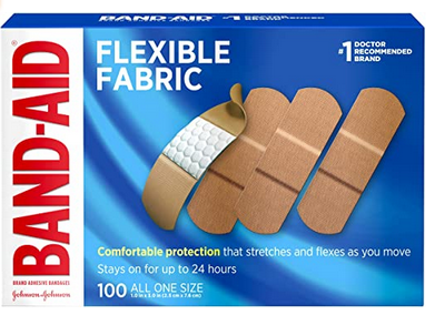 Johnson & Johnson Band-Aid Brand Flexible Fabric Adhesive Bandages