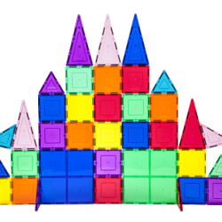 61-Piece 3D Magnetic Building Tile Play Set