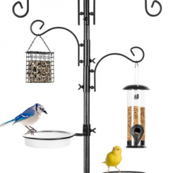 Do you love watching birds? Get this 6-Hook Bird Feeding Station with 4 Bird Feeders for a great deal!