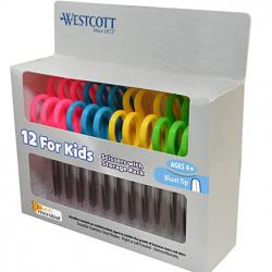 """Westcott 14871 5"""" School Pack of Kids Scissors"""