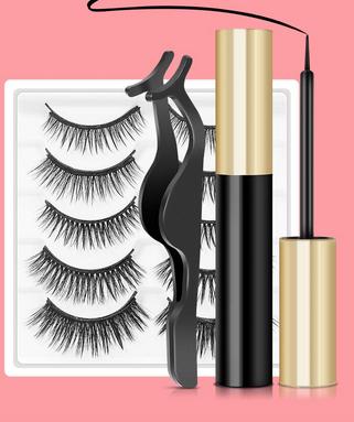 Magnetic Eyelashes with Eyeliner