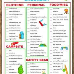 Free Printable Camping Checklist