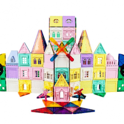 200-Piece Castle 3D Magnetic Building Block Set