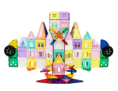 200-Piece Castle 3D Magnetic Building Block Set