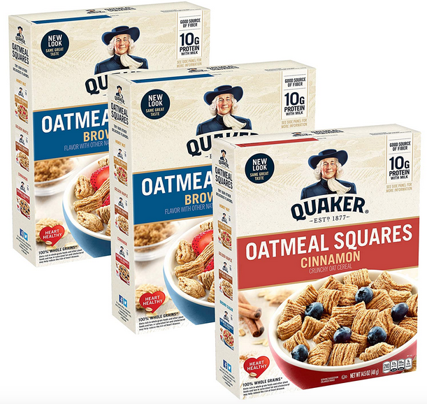 Quaker Oatmeal Squares Breakfast Cereal (3 pack) just $6.85 shipped!