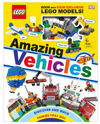 LEGO Amazing Vehicles Hardcover Book only $10.89!