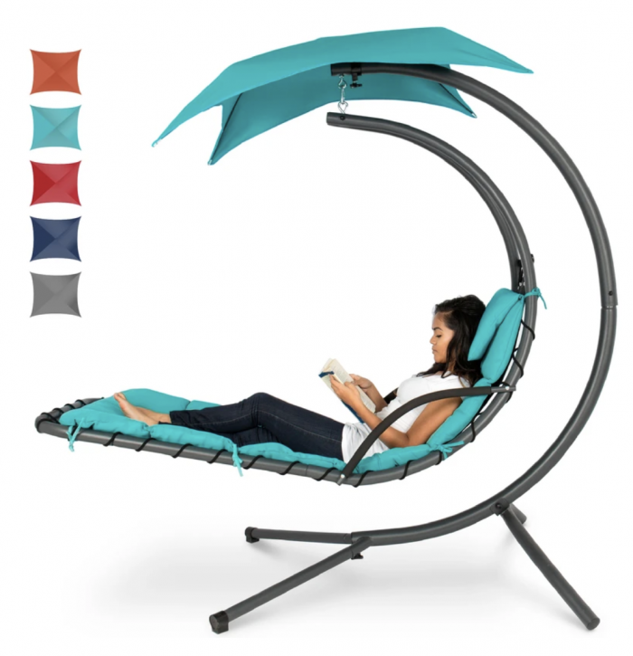 Curved Chaise Lounge Chair