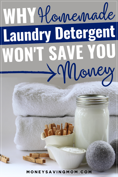 homemade laundry detergent doesn't save money