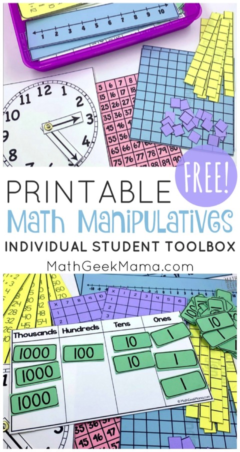Free Printable Math Manipulatives