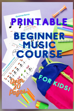 Printable Beginning Music Course