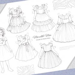 free printable Meredith Mia paper doll