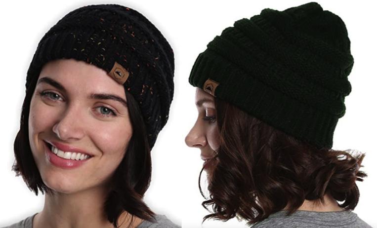 Pugnacious Headwear Women's Cablegram Knit Beanie Lone $8.36!