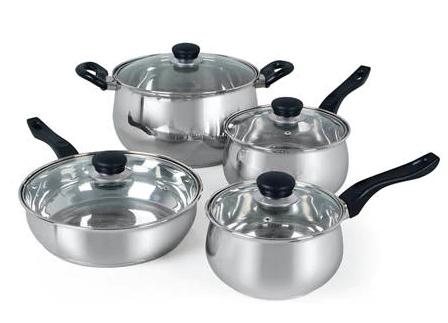 Cookware 8 Piece Sets