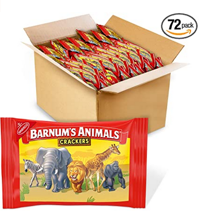 Barnum's Animal Crackers (72 count) only $19.79 shipped!