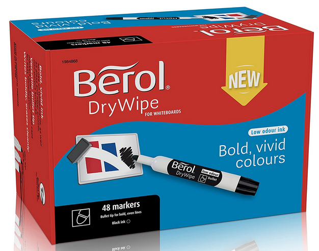 Berol Dry Erase Whiteboard Markers (Pack of 48) only $13.99!