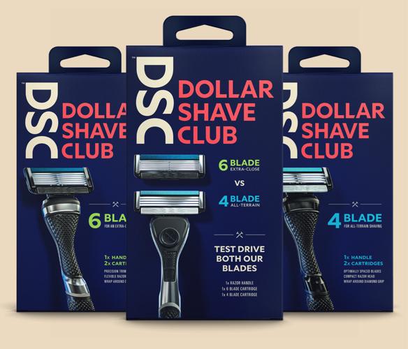 Dollar Shave Club razors