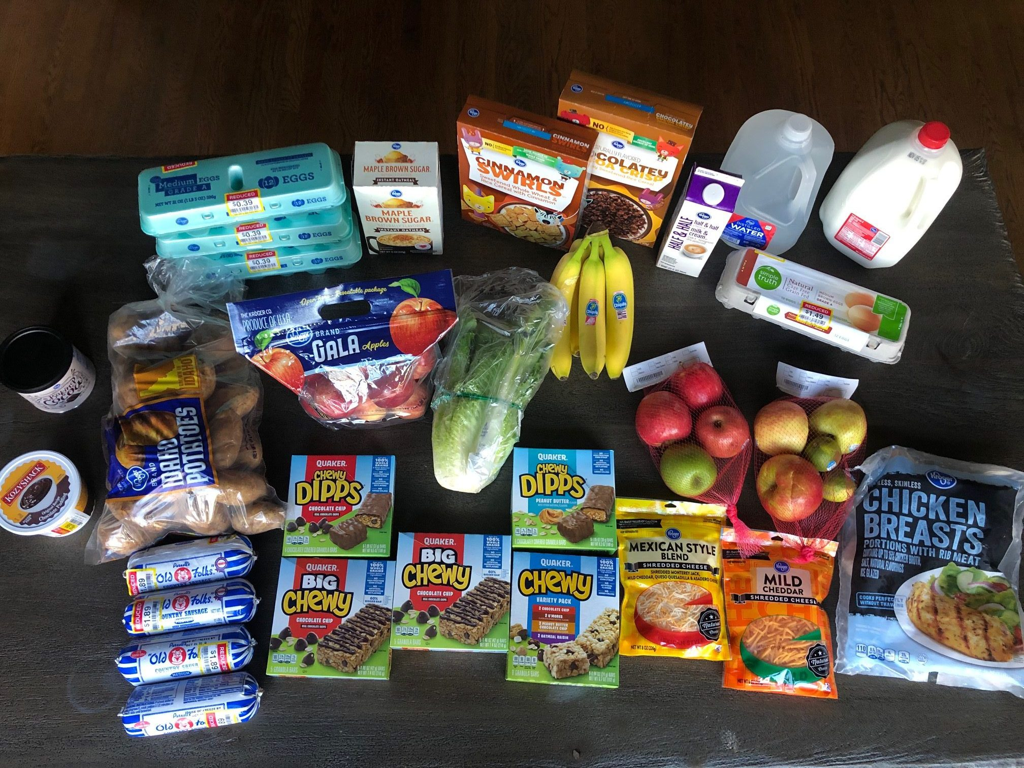 This week's $66.61 grocery shopping trips
