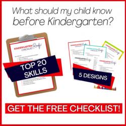 Kindergarten Ready Checklist