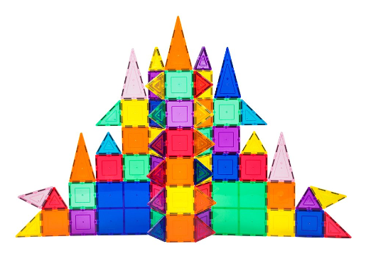 101-Piece 3D Magnetic Building Tile Play Set
