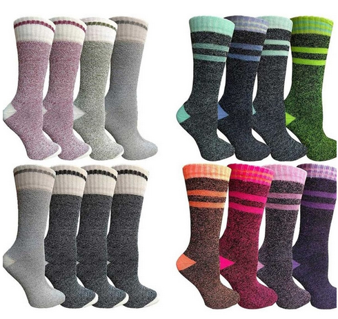 8 Pairs Women's Thermal Tube Socks
