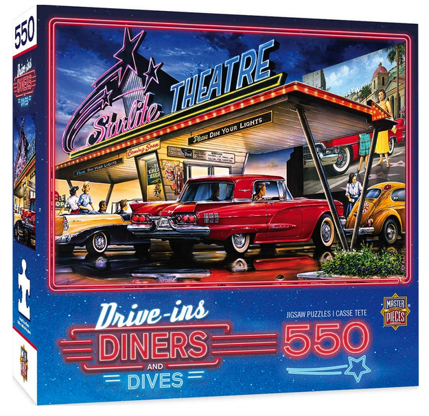 MasterPieces Drive-Ins, Diners and Dives Starlite Drive-In 550-Piece Puzzle