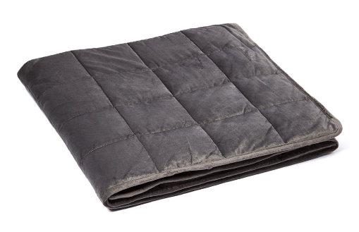 Gray Microplush Weighted Blanket Millihome