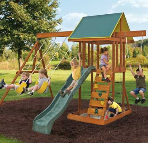 Meadowvale II Wooden Swing Set
