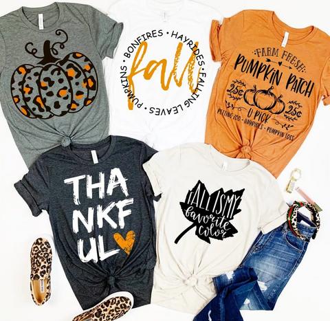 Fall Pumpkin Style Tops