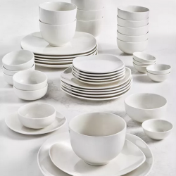 Tabletops Unlimited Whiteware 42-Piece Dinnerware Set