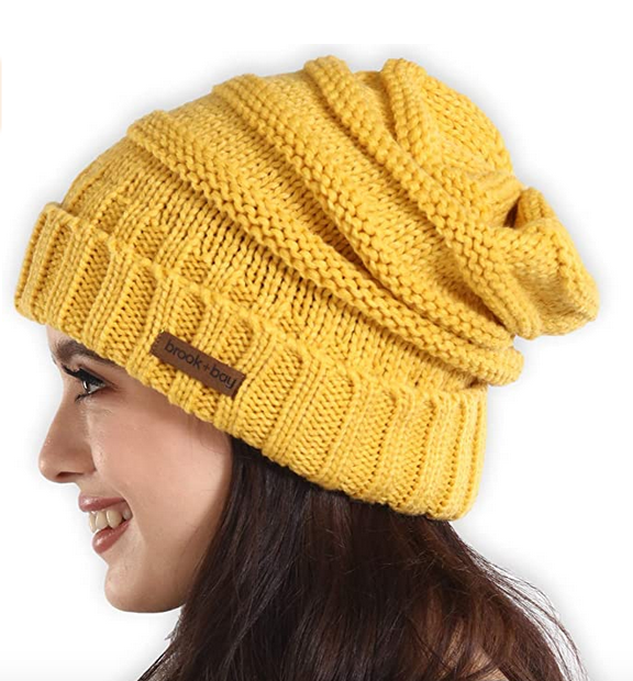 Brook + Bay Slouchy Cable Knit Beanie