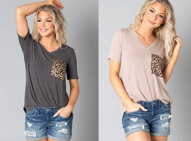 Leopard Pocket T-Shirt