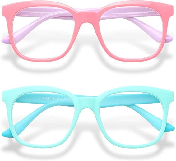 2-Pack Kids Blue Light Glasses