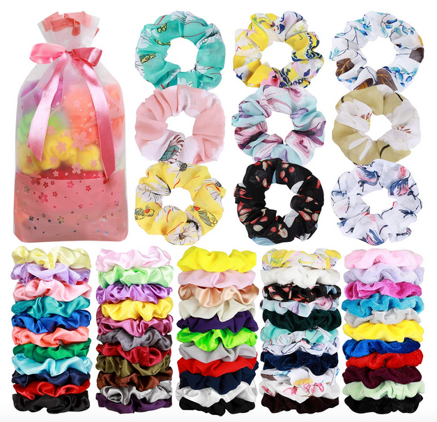 70 Pack Hair Scrunchies Hair Ties