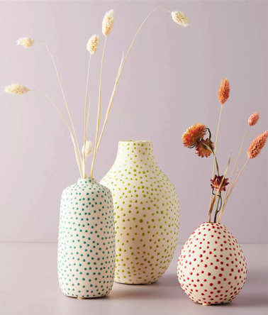 Anthro Dottie Vases