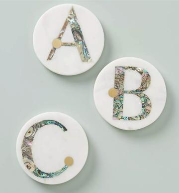 Anthro Monogram Coasters