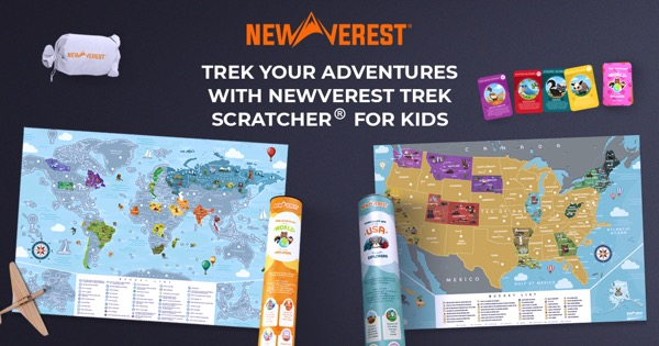 Kids Scratch Off Travel Maps