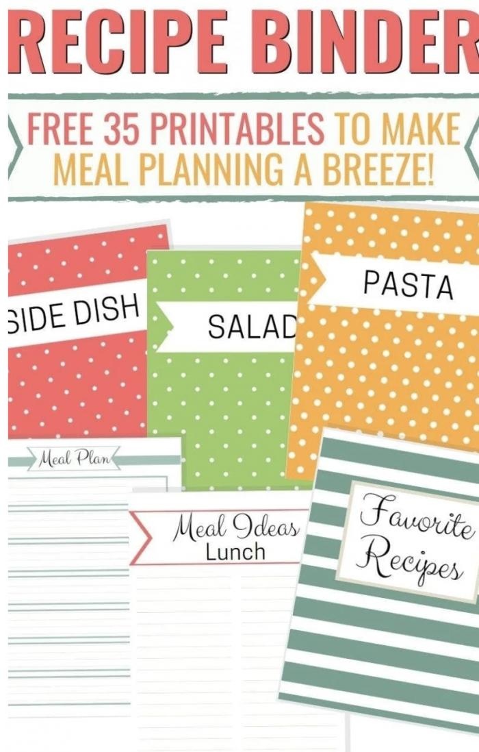 free recipe binder